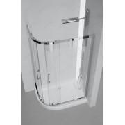 Immagine GENNI Box Doccia Due Ante Asimmetrico Cristallo Trasparente