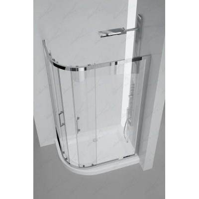 GENNI Box Doccia Due Ante Asimmetrico Cristallo Acidato