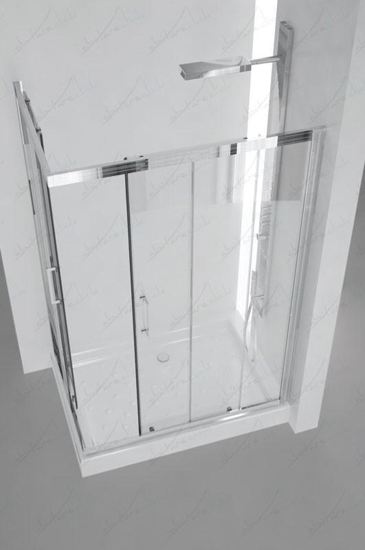 ITALIA Box Doccia Due Lati Cristallo Trasparente
