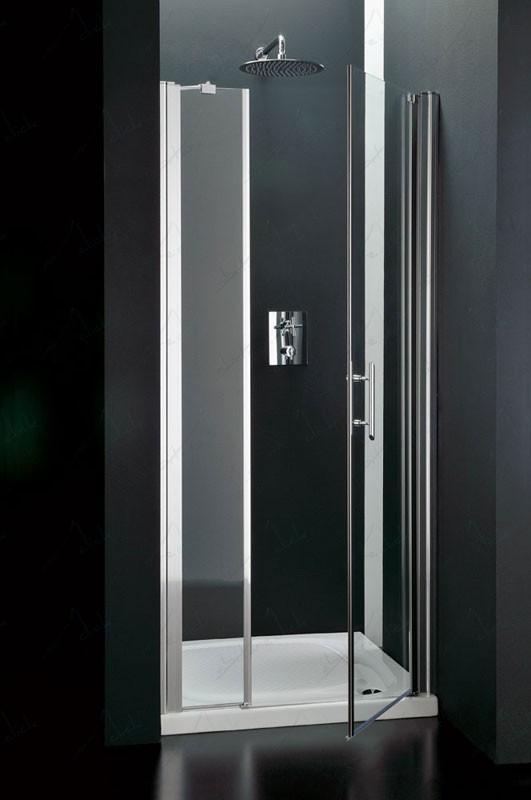 Bi box doccia un lato battente cristallo trasparente for Doccia aperta