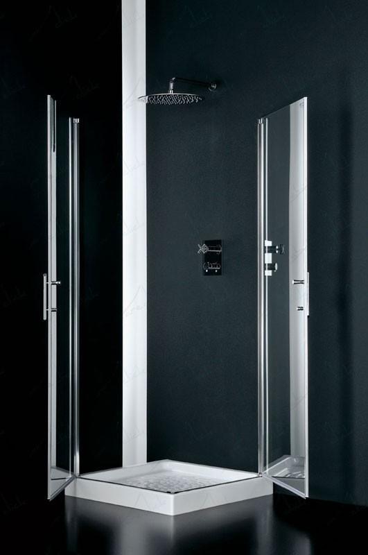 Sides box doccia due lati angolare cristallo trasparente - Box doccia trasparente ...