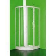 Immagine SEMCI Box Doccia Due Lati Semicircolare Cristallo Trasparente