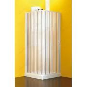 Immagine LIGHT APERTURA LATERALE Box doccia Due Lati a Soffietto Angolare