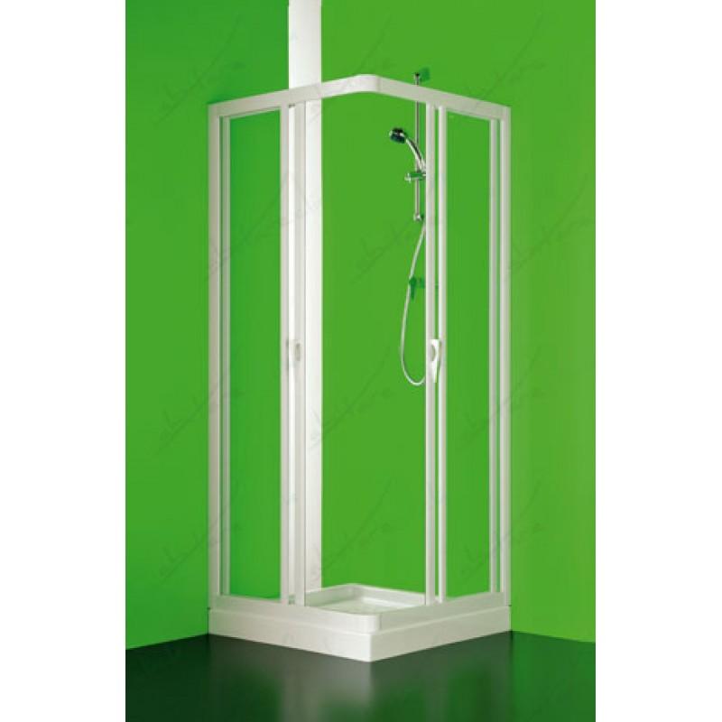 Box Doccia In Cristallo Satinato : Angolare box doccia due lati scorrevole cristallo satinato