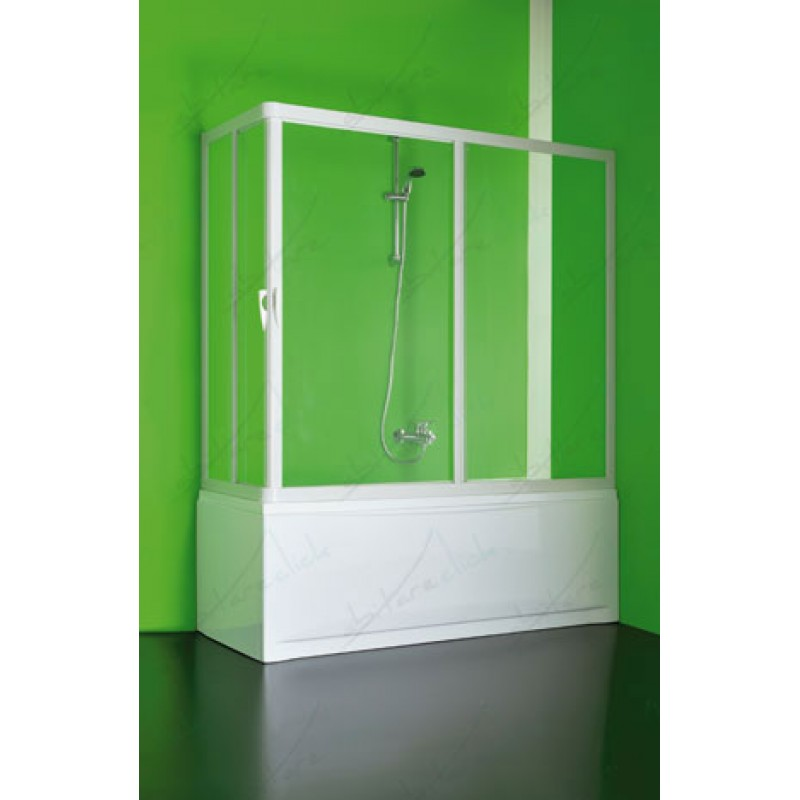 Vasca4 box doccia angolare cristallo trasparente sopravasca for Box doccia cristallo