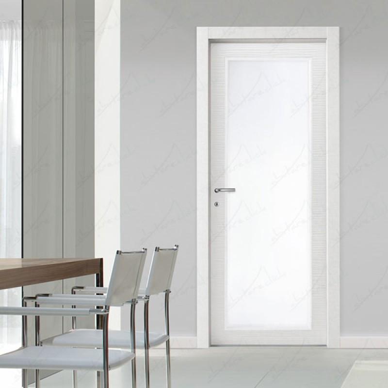 Vento vetro porta interna laminata vetro escluso for Porta interna bianca con vetro