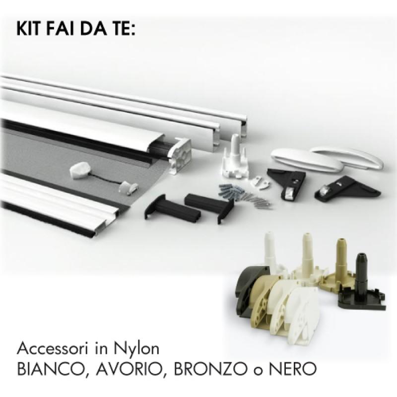 MONO-BLOCCO 32mm Zanzariera Avvolgente VERTICALE