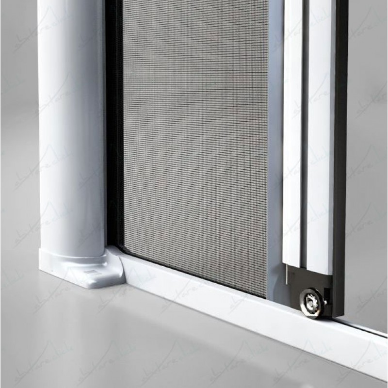 Laterale 50mm n 2 ante zanzariera avvolgente veloce - Zanzariera a rullo per porta finestra ...