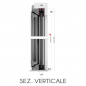 sez verticale - FLES 40mm N.2 ANTE Zanzariera avvolgente LATERALE