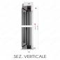 sezione verticale un anta  - FLES 40mm N.1 ANTA Zanzariera avvolgente LATERALE
