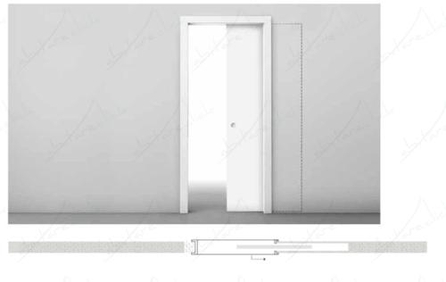 porte scorrevole interno muro