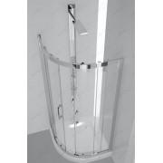 Immagine FIORE Box Doccia Due Ante Semicircolare Cristallo Trasparente