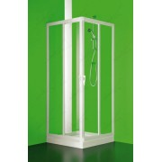 Immagine ANGOLARE Box Doccia Due Lati Scorrevole Cristallo Trasparente